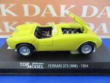 Die cast 1/43 Modellino Auto Ferrari 375 MM 1954 gialla by Top Model