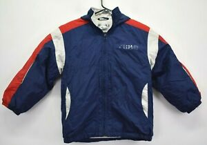 Vintage Nike Youth Boys Small Size 8 Hooded Winter Coat Red/White/Blue Color