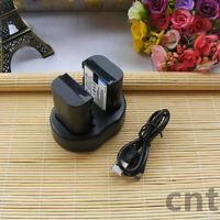 2x  LP-E6 Battery for Camera EOS 5D Mark II III EOS 7D  6D 70D 5D2 5D3 +Charger