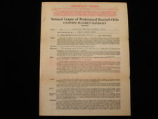 Erv Dusak 1946 St. Louis Cardinals Official Player's Contract