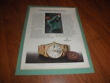 "ARNOLD PALMER_ROLEX WATCH AD-""Masters of Style""1981 8 X 10 Vintage Gem"