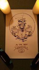 IRON MAIDEN EDDIE POWERSLAVE MUMMY PARCHMENT PRINT 11x17 SIGNED BY DEREK RIGGS