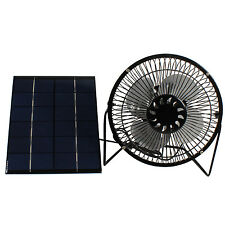 Solar Panel Powered 6'' Fan Greenhouse Chicken Pet House RV Ventilation Portable