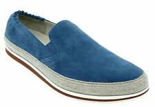 PRADA Scamosciato Suede Slip on Espadrilles Loafers Shoes Size 11 M