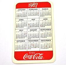 COCA COLA USA Calendario tascabile CALENDARIO Pocket calendario 1987