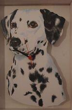 Dalmatian Dog novelty wooden wall clock British made from Lark Rise