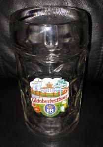 RARE COLLECTABLE HB HOFBRAUHAUS OKTOBERFESTBIER 1 LITRE BEER MUG STEIN