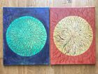"""Abstract Organic Art Acrylic Paintings. Set Of Two. 16x20x3/4"""" Per Painting"""