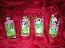 4 PINK TROPICAL PARTY FLAMINGO ACRYLIC TUMBLERS 24 OZ
