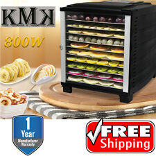 KMK Premium 10 Tray Food Dehydrator 800W Timer Dryer Preserve Jerky Fruit Meat