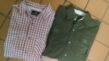 LOT OF 2 SHIRTS OUTDOOR MENS L LONG SLEEVE REDHEAD & CAT GREEN & ORANGE CASUAL