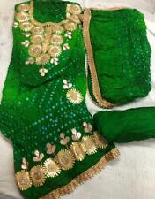 Gota patti work Bandhani Art silk suit