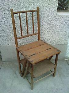 ancienne chaise escabeau