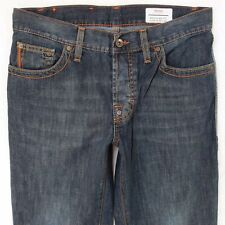 Herren Hugo Boss Regular Fit Straight Blau Jeans W32 L34