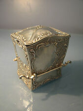 Rare Novelty Miniature Silver sedan chair for playing cards 1899 Edward Glasgow