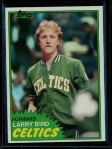 1981-82 Topps Basketball #4 Larry Bird Celtics EX-MT LOOK!