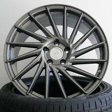 18 Zoll ET45 5x112 Keskin KT17 Grau Alufelgen für Audi A4 S4 Lim. Mod B8, B81