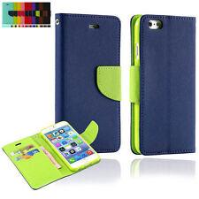 NUEVO CARTERA LIBRO Cuero Funda para teléfono Samsung Galaxy S Note MODELOS
