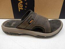 2379ae955 Teva Mens Sandals Size US 11 Uk10 Langdon Slide Walnut Leather Upper Casual