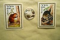1 troy oz .999 fine silver round Beaver AAA Precious Metals & two wildlife cards