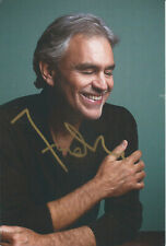 Andrea Bocelli Original & Vintage Hand Signed Autographed Photo
