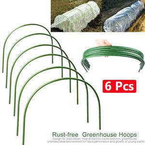6 Greenhouse Plants Hoop Grow Garden Tunnel Hoop Support Hoops for Garden Stakes