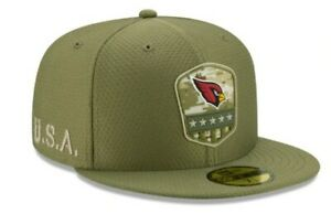 New Era 59FIFTY NFL ARIZONA CARDINALS Salute to Service Fitted Cap Size 7 1/2
