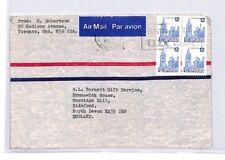 BQ225 1977 Canada Ontario Devon Great Britain Airmail Cover {samwells}PTS