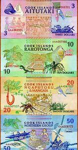 SET Cook Islands, $3;10;20;50 1992, AAA prefix, P-7-8-9-10, aUNC-UNC