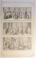 Bernard PICART (1673-1733) Kupferstich-Blatt um 1720 mit 6 Abb.: Vatikan (02