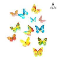 20/50 Pcs Mixed Butterfly Edible Wafer Rice Paper Cake Decoration Topper K1D9