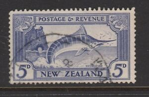1935 NZ 5d Swordfish Sg 563b VFU CV £50