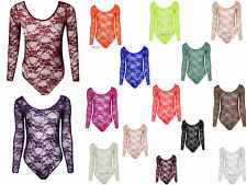 Unbranded Long Sleeve Stretch Floral Tops & Shirts for Women