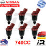 6 x 740cc fuel injectors 16600-RR544 for Nismo Nissan Skyline R33 RB25DET ECR33