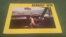July 1974 1975 Model RENAULT UK RANGE BROCHURE 4 5 6 12 16 15 17 TS 4 7 CWT VAN