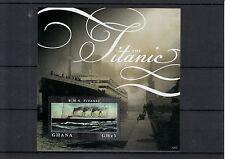 Ghana 2012 MNH RMS Titanic 1v S/S Sinking Ships Boats 100th Anniv