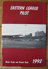 """1992 """"Eastern League Pilot Media Guide & Record Book"""" 70th Year 1923 to 1992"""