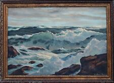 AMERICAN SEASCAPE OIL PAINTING BY WILLIAM PAGE, SIGNED - SALE