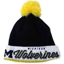 Michigan Wolverines New Era Pom Time Knit Beanie
