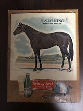 Vintage 1966 Rolling Rock Beer Kaual King Kentucky Derby Winner Sign Display