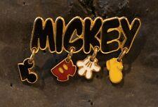 Mickey Mouse Name Body Parts Charms Dangle Ears Pants Glove Shoe Disney Pin 138