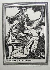 VOX MAXIMILIEN. Romanesque suranné. Gravure sur  bois originale. 1925