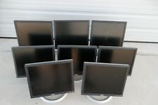 "LOT-8 Dell 17"" LCD Monitor VGA DVI 4-Port USB Hub 1706FPV 1703FP 1704FPt 1705FP"