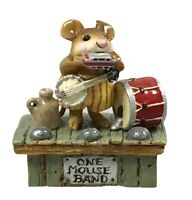 1993 Wee Forest Folk M-196 One Mouse Band RETIRED With Box