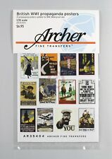 Archer 1/35 British Propaganda Posters WWI (24 posters) [Printed Paper] AR35404