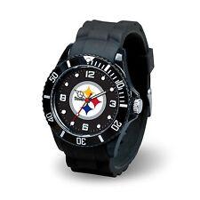 Pittsburgh Steelers NFL Football Team Men's Black Sparo Spirit Watch