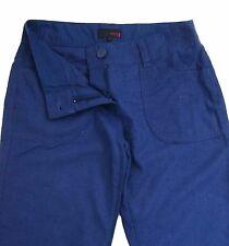 New Womens Blue Linen NEXT Trousers Size 14 Petite LABEL FAULT