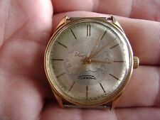 VINTAGE Russian Soviet WATCH RAKETA ultra-slim GOLDPLATED AU20 -RARE
