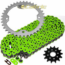 Green O-Ring Drive Chain & Sprockets Kit Fits YAMAHA YFZ450 YFZ450V 2004-2013