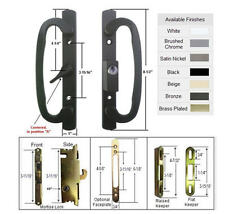 Patio Door Handle Kit with Mortise Lock and Keepers, A-Position, Black, Keyed